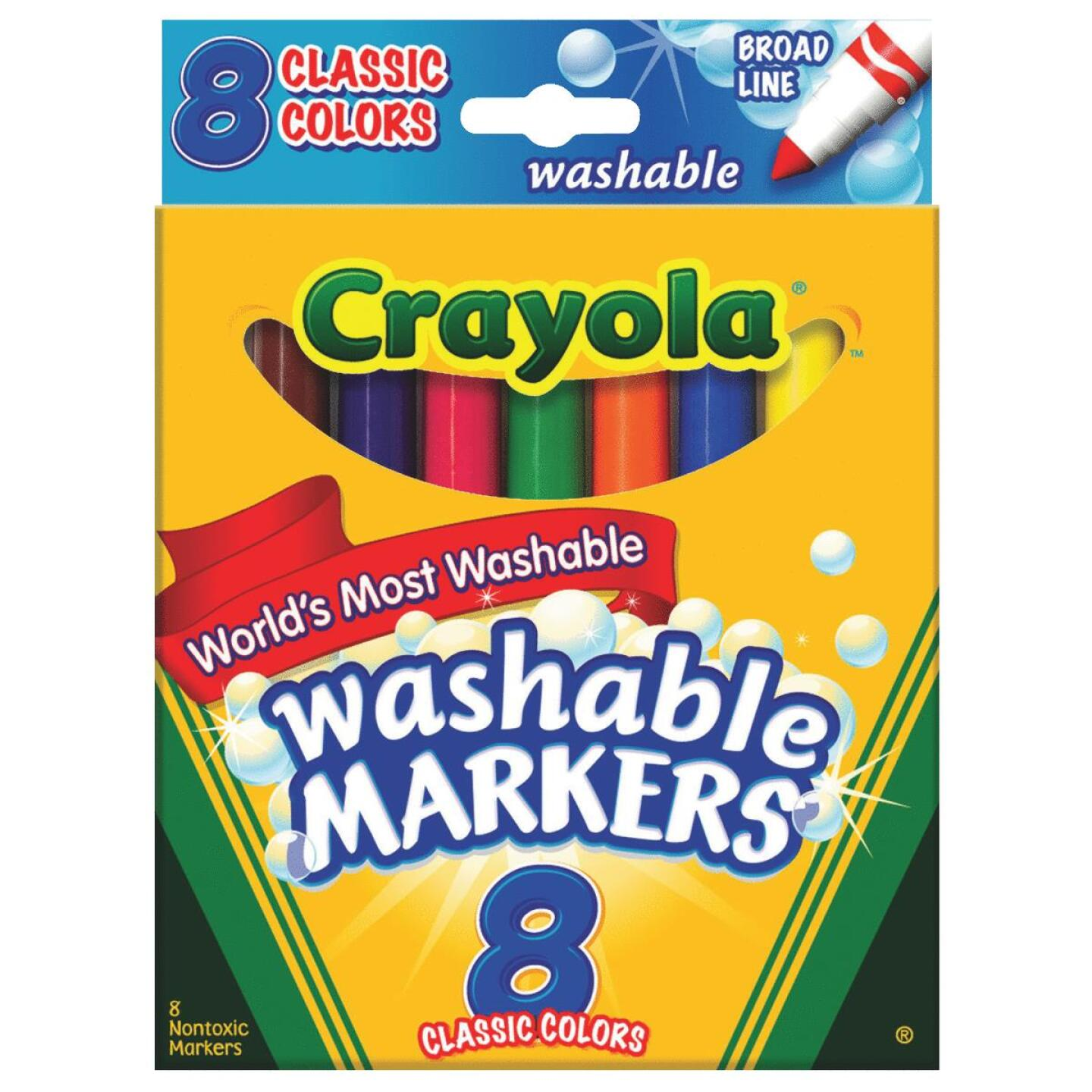 Crayola Assorted Color Broad Line Washable Markers (8-Pack) Image 1