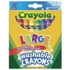 Crayola Large Washable Crayons (8-Pack) Image 1